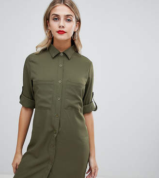 584b4bd2bf3 Missguided utility shirt dress in khaki