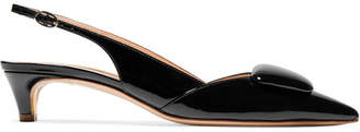 Rupert Sanderson Misty Patent-leather Slingback Pumps - Black