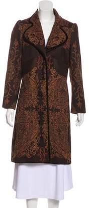 Etro Knee-Length Patterned Coat
