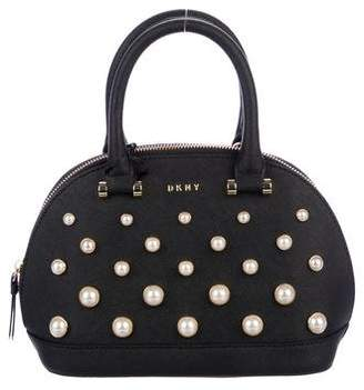 DKNY Embellished Leather Satchel w/ Tags