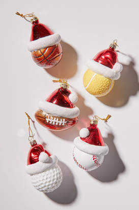 Urban Outfitters Santa Hat Sports Ball Christmas Ornament
