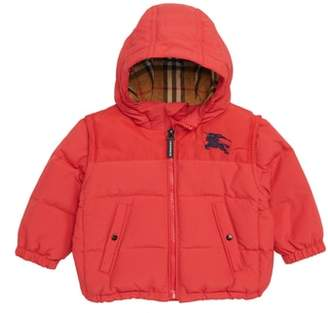 Burberry Mini Ezra Hooded Down Jacket