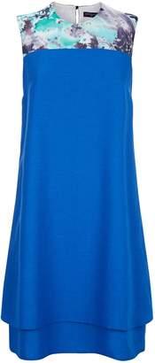 Next Womens HotSquash Cobalt Chiffon Double Layered Dress