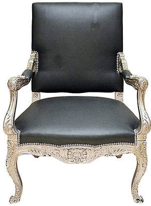 One Kings Lane Vintage Antique Silvered Armchair