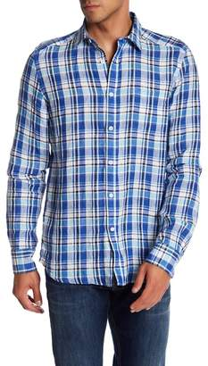 Gilded Age Linen Plaid Regular Fit Shirt
