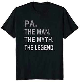 Mens Grandpa Grandfather PA The Legend Gift T-Shirt