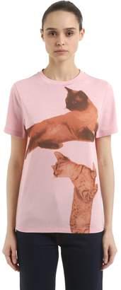 Loewe Cat Printed Jersey T-Shirt