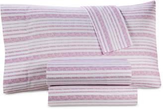 Westport Printed Organic 4-Pc. Queen Sheet Set, 500 Thread Count Gots Certified Cotton Bedding
