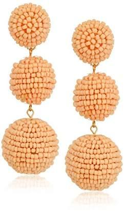 Kenneth Jay Lane Seedbead Wrapped Ball Drop Earrings