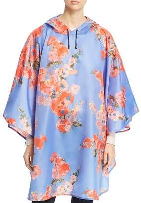 Joules Floral Packable Poncho