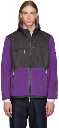 The North Face Purple and Grey Denali Zip-Up Sweater