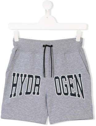 Hydrogen Kids Teen logo print track shorts