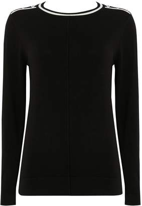 Wallis Black Crew Neck Jumper