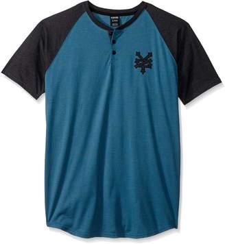 Zoo York Young Men's High Line Short Sleeve Henley Shirt, -, S