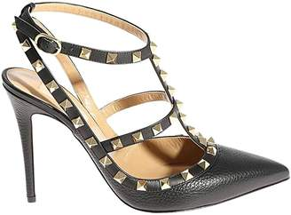 Valentino GARAVANI Pumps Rockstud Ankle Strap Pumps In Real Leather With Micro Metal Studs