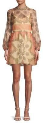 Valentino Printed Silk A-Line Dress