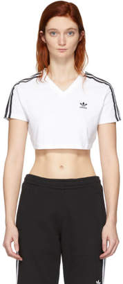 adidas White Cropped T-Shirt