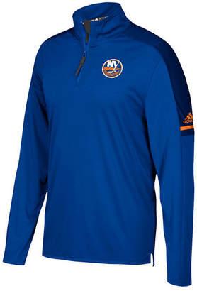 adidas Men New York Islanders Authentic Pro Quarter-Zip Pullover