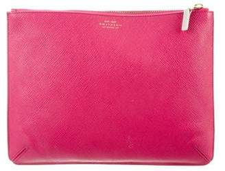 Smythson Grained Zip Pouch