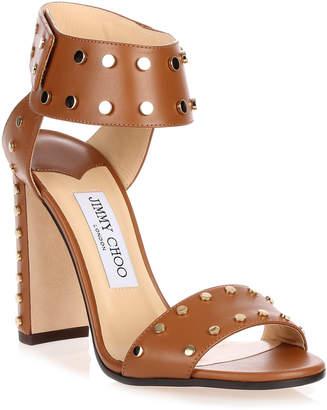Jimmy Choo Veto gold studded sandal
