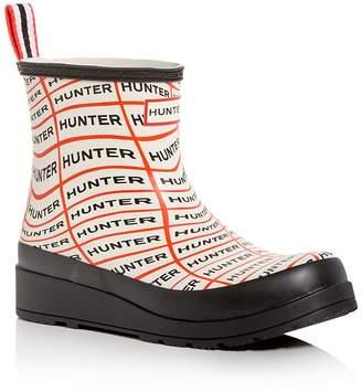 Hunter Women's Original Play Sonic Logo Wedge Rain Boots