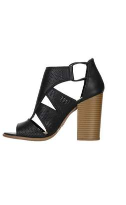 Soda Sunglasses Perforated Faux-Leather Sandal