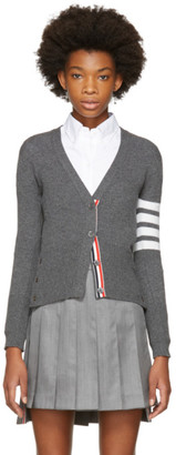 Thom Browne Grey Classic Short V-Neck Cardigan $1,690 thestylecure.com