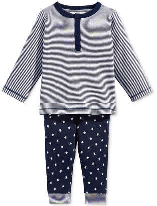 First Impressions 2-Pc. Striped Top & Star-Print Pants Set, Baby Boys, Created for Macy's