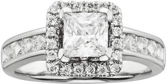 Kohl's Princess-Cut IGL Certified Diamond Frame Engagement Ring in 14k White Gold (2-ct. T.W.)