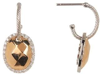 Alor 18K Rose Gold Plated Diamond Accent Earrings - 0.26 ctw