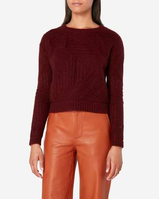 N.Peal Cable Knit Cropped Cashmere Jumper