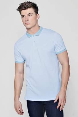 boohoo Short Sleeve Pique Polo