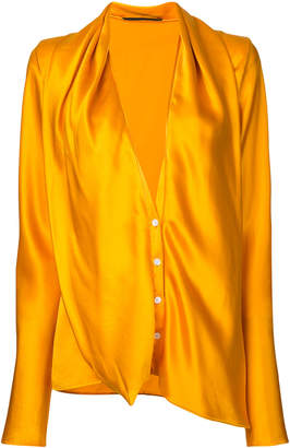 Haider Ackermann plunge neck shirt