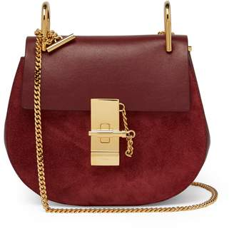 Chloé Drew mini suede and leather cross-body bag