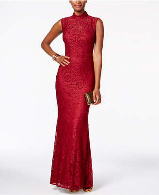Betsy & Adam Open-Back Lace Gown $249 thestylecure.com