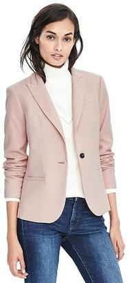 Herringbone Luxe Brushed Twill One-Button Blazer $178 thestylecure.com