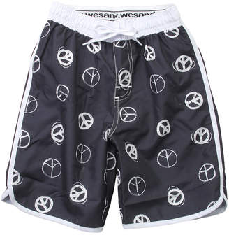 Wes And Willy Wes Willy Peace Signs Swim Trunk