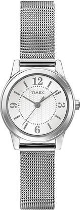 Timex Womens Silver-Tone Stainless Steel Mini Modern Watch T2P4577R