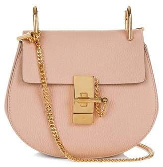 Chloé Drew Mini Leather Cross Body Bag - Womens - Light Pink