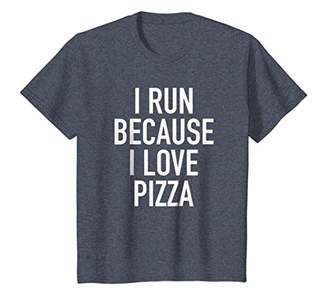 I Run Because I Love Pizza - Funny Cardio Quote T-Shirt