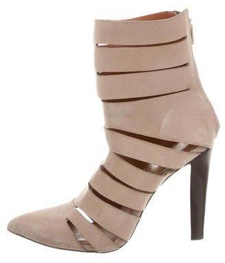 Rebecca MinkoffRebecca Minkoff Suede Cutout Ankle Boots