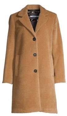 Jane Post Single-Breasted Alpaca& Wool Boy Coat