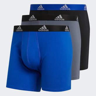 adidas 3-Pair Performance Stretch Cotton Boxer Briefs