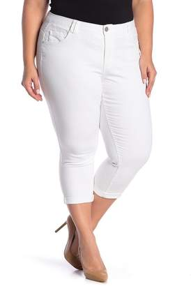 Democracy High Rise Stretch Twill Rolled Jeans (Plus Size)