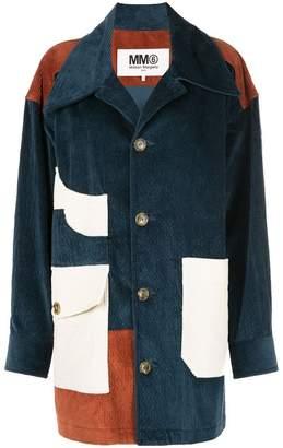 MM6 MAISON MARGIELA patchwork corduroy coat
