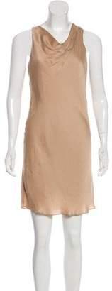 Helmut Lang Satin Sleeveless Mini Dress