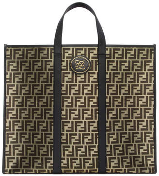 Fendi Black and Gold Large Forever Tote