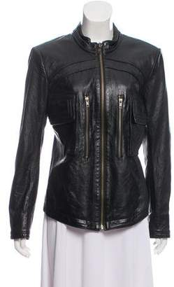 Theyskens' Theory Structured Leather Jacket
