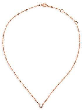 Lana Women's Solo Diamond & 14K Rose Gold Pendant Necklace