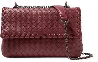 Bottega Veneta - Olimpia Small Intrecciato Leather Shoulder Bag - Claret $2,100 thestylecure.com